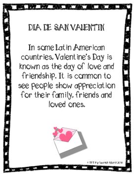 Valentine's Day, Día de San Valentín coloring, flash cards and poster
