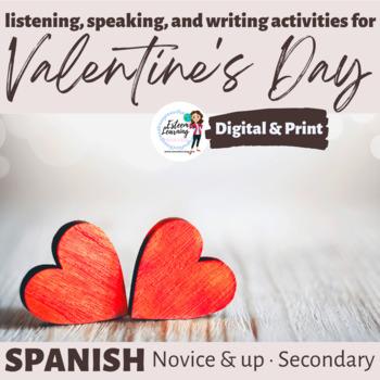 Valentine's Day / Día de los Enamorados - INB Vocab and 4 Hours of Activities