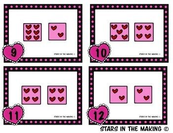 Valentine's Day Dice Addition (Task Cards)