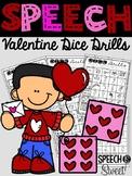 Valentine's Day: Dice Drills Articulation