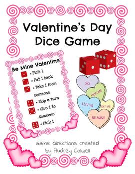 Valentine's Day Dice Game