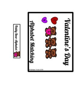 Valentine's Day Differentiated Alphabet Matching File Folder