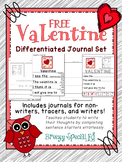 Valentine's Day Differentiated Journal Writing for Special