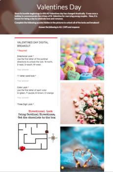Valentine's Day Digital Breakout EDITABLE