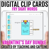 Valentine's Day Digital Clip Cards   Fry Sight Word Activi