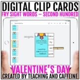 Valentine's Day Digital Clip Cards   Sight Word Activities
