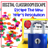 New Year's Resolution Digital Escape Room Math - Setting Goals
