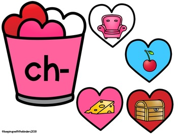 Valentine's Day Digraph Hearts