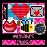 Valentine's Day Dilations; Geometry, Reduction, Enlargement