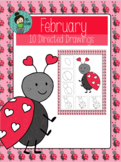 Valentine's Day Directed Drawings FREE Ladybug