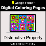 Valentine's Day: Distributive Property - Google Forms | Di