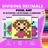 Valentine's Day: Dividing Decimals Pixel Art Mystery Pictures
