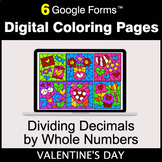 Valentine's Day: Dividing Decimals by Whole Numbers - Digi