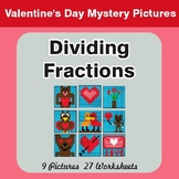 Dividing Fractions - Color-By-Number Valentine's Math Myst
