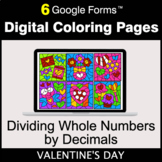 Valentine's Day: Dividing Whole Numbers by Decimals - Digi