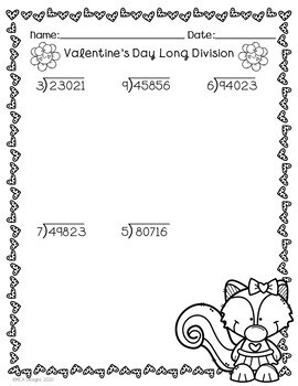 Valentine's Day - Long Division
