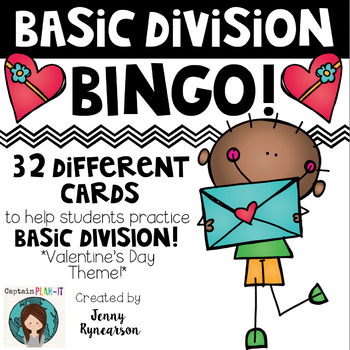 Valentine's Day Division BINGO! 32 Different Cards!