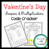 Valentine's Day Division & Multiplication Code Cracker