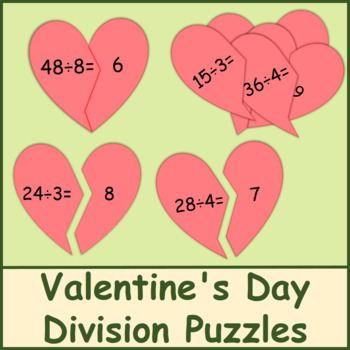 Valentine's Day Division Puzzles
