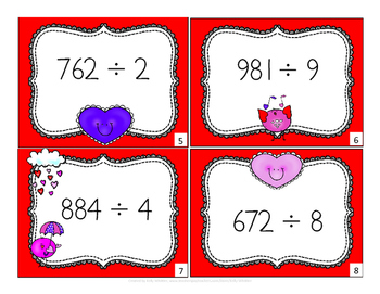 Valentine's Day Division Task Cards