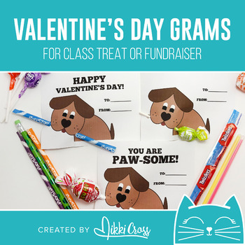 Valentine's Day Dog Candy Grams | Class Treat or School Fundraiser