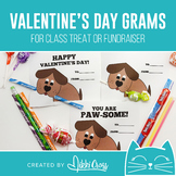 Valentine's Day Dog Candy Grams   Class Treat or School Fu