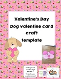 Valentine's Day- Dog Card Template