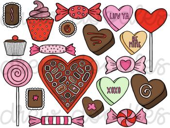 Valentine's Day Sweets Digital Clip Art Set