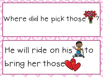 Sight Word Sentence Strips: Valentine's Day Set