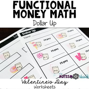 Valentine's Day Dollar More Worksheets Freebie
