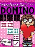 Valentine's Day Math Domino Hearts Game
