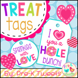 Valentine's Day Donut Gift Tags