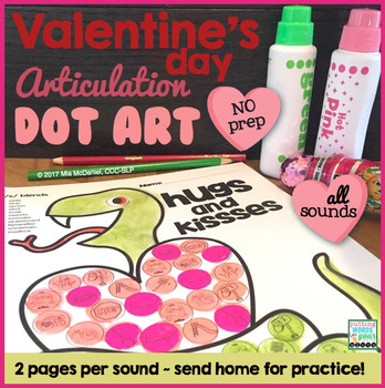 Valentine's Day Dot Art {all sounds and NO prep!}