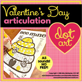 Valentine's Day Dot Art for Articulation  |  ALL sounds NO prep