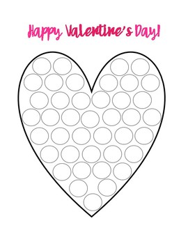 Valentine's Day Dot Painting (not editable)