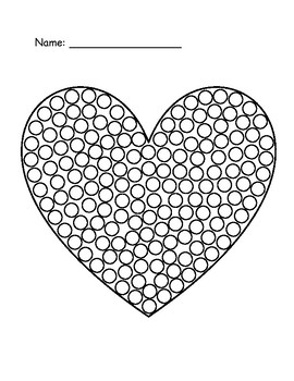 Valentine's Day Dot Paintings
