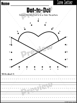 Valentine's Day Dot-to-Dot / Connect the Dots
