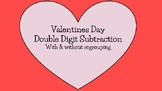 Valentine's Day Double Digit Subtraction