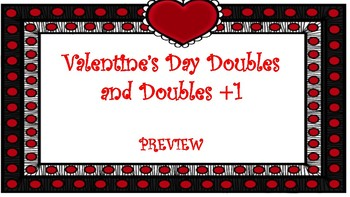 Valentine's Day Doubles and Doubles +1 Task Cards SAMPLER