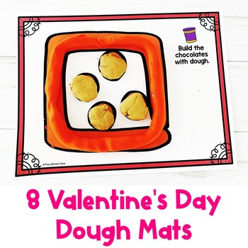 Valentine's Day Dough Mats   Fine Motor Practice   Special Education Resource