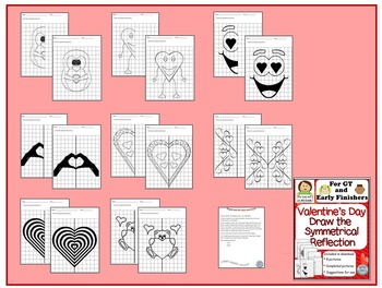 Valentine's Day Draw the Symmetrical Reflection Pictures for GT