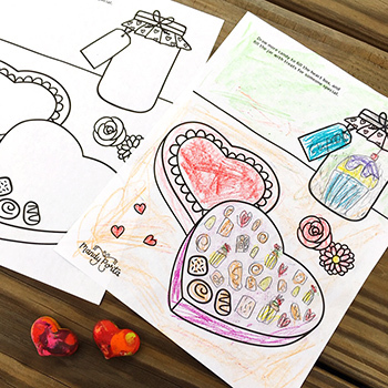 Valentine's Day Drawing / Coloring Activity Printable | Parties, Early Finishers
