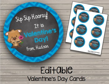Valentine's Day {EDITABLE} Cards - Student Appreciation - Favors - Incentives