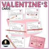 Editable Valentine's Day Cards for Smarties, Pencils, or F