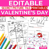 Valentine's Day EDITABLE Secret Picture Tile Printables