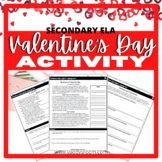 Valentine's Day Literary Activity High School
