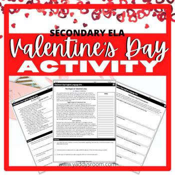 Valentine's Day Literary Activity High School