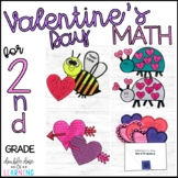 Valentine's Day Math Craftivities for 2nd Grade (word prob