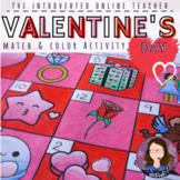 Valentine's Day ELA/ESL/EFL Match and Color Printable Activity