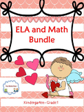 Valentine's Day  ELA and Math Worksheets